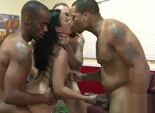 Asian interracial gangbang
